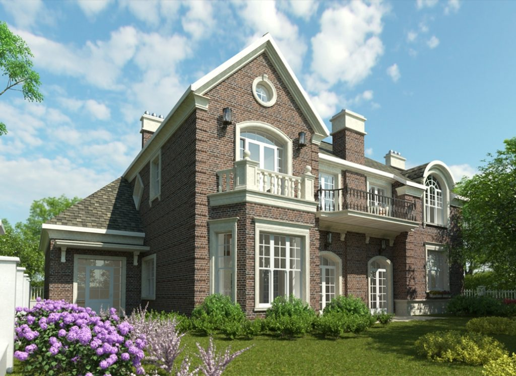 начинающим строителям дом в английском стиле фасад фото этому