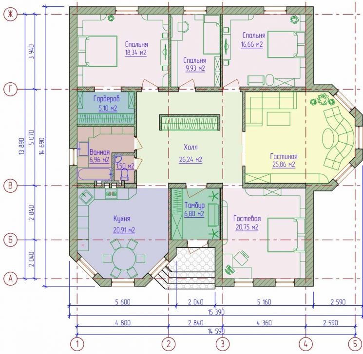 Картинки планов одноэтажных домов