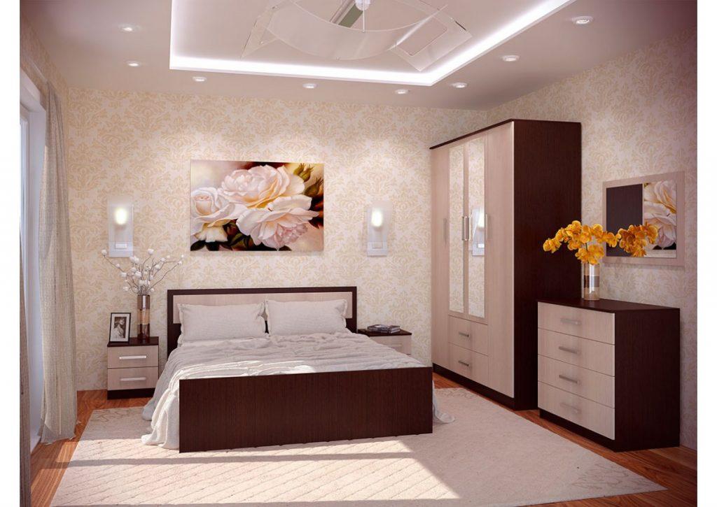 Дизайн спальни в сиреневом цвете фото принадлежит