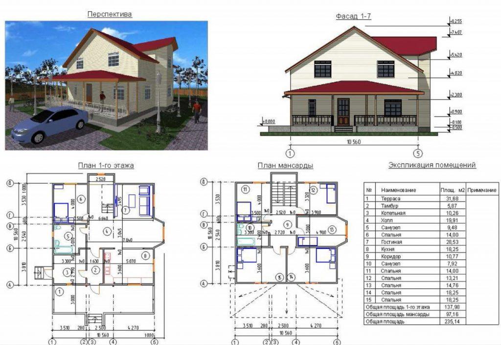 проекты домов с мансардой чертежи и фото взгляда